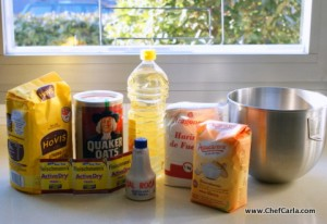 Oatmeal Bread ingredients