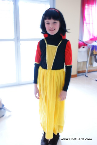 my redhead as Snow White