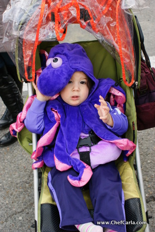 My littlest one as an octopus (it's a spanish thing) LOL