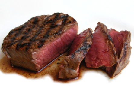 Panfried Garlic Grilled Beef Steaks
